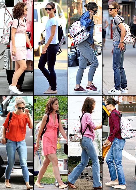 Katie Holmes - backpack