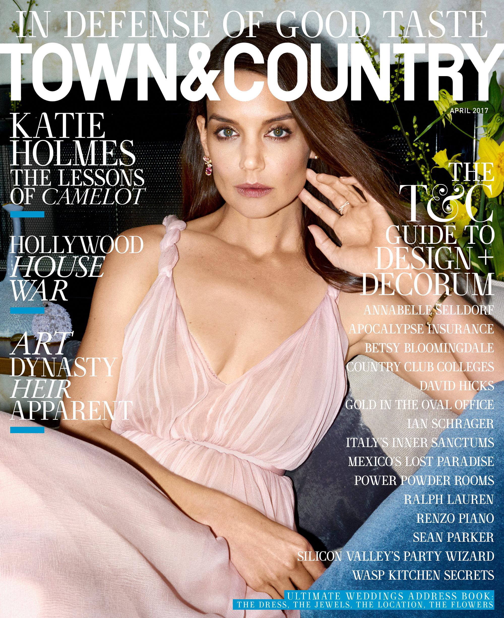 Katie Holmes Town & Country Magazine