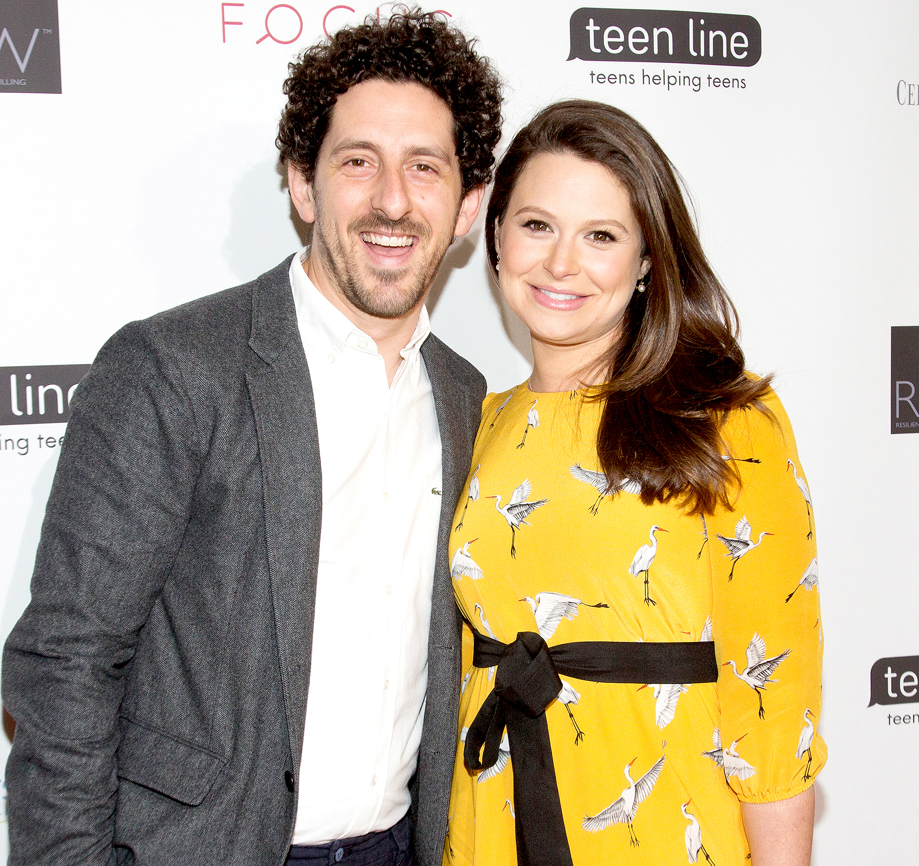 Scandals Katie Lowes and her husband Adam Shapiro.