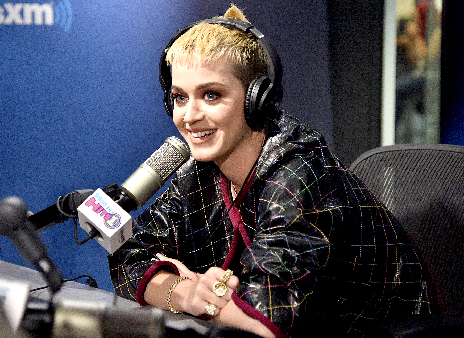 Katy Perry visits 'The Morning Mash Up' on SiriusXM Hits 1 channel at The SiriusXM Studios in New York City on May 23, 2017.