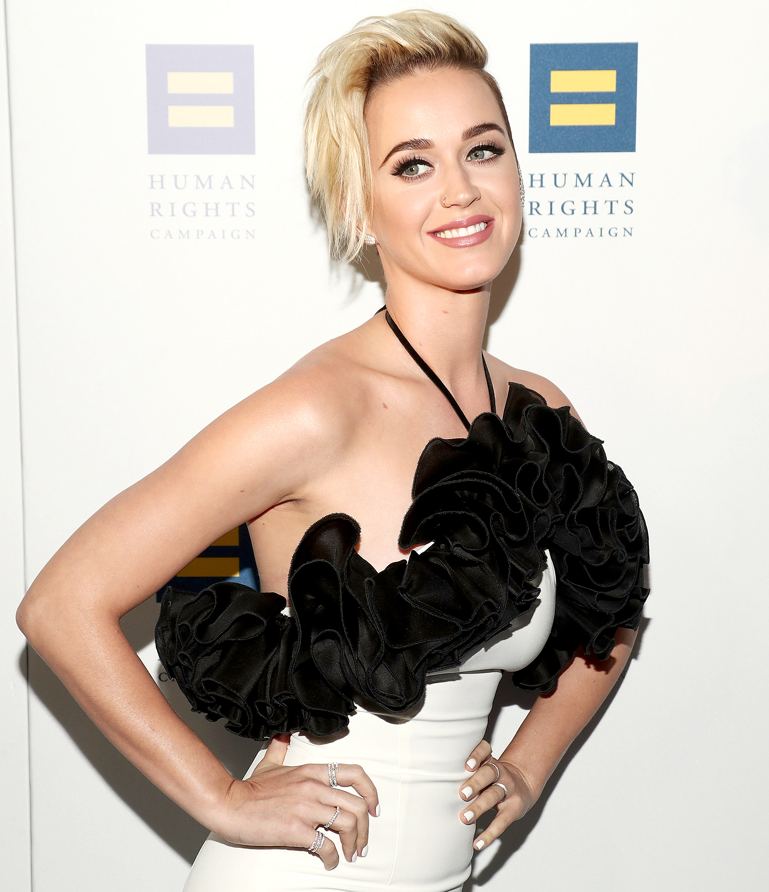 Katy Perry attends the Human Rights Campaign's 2017 Los Angeles Gala Dinner at JW Marriott Los Angeles at L.A. LIVE on March 18, 2017 in Los Angeles, California.