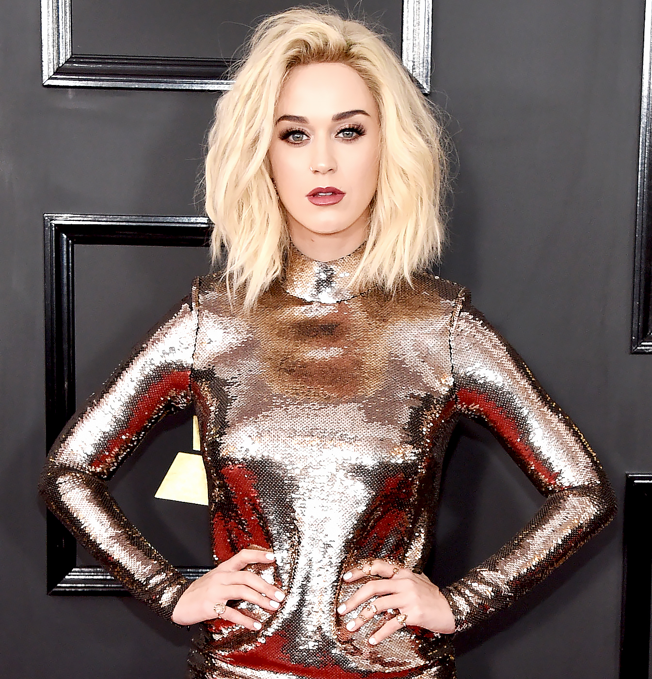 Katy Perry attends the 59th Annual Grammy Awards at Staples Center on Feb, 12, 2017, in Los Angeles.