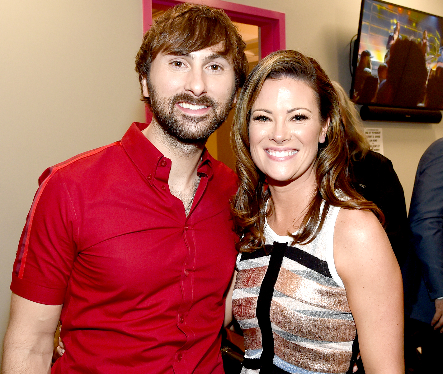 Dave Haywood of the music group Lady Antebellum and Kelli Cashiola attend the 52nd Academy Of Country Music Awards at T-Mobile Arena on April 2, 2017 in Las Vegas, Nevada.