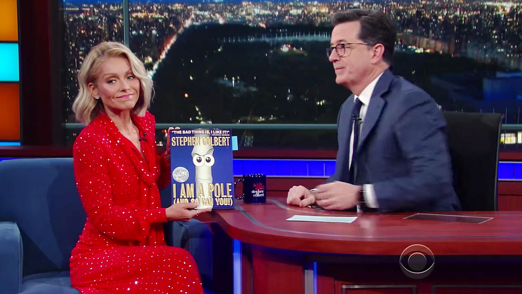Kelly Ripa Stephen Colbert