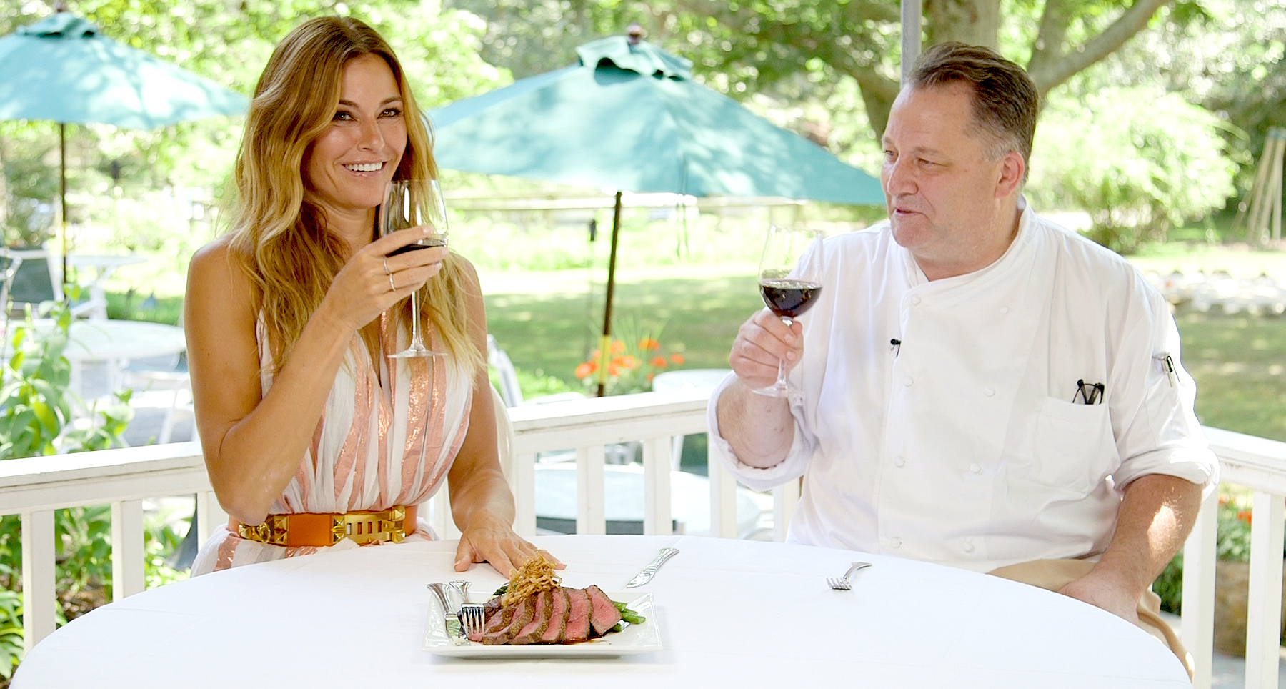 Kelly Bensimon and Chef Murphy