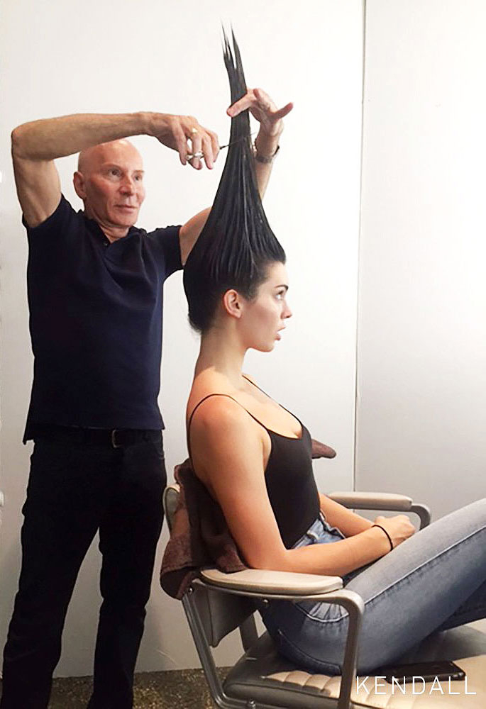 Kendall Jenners Lob Haircut Behind The Scenes At Vogue Shoot
