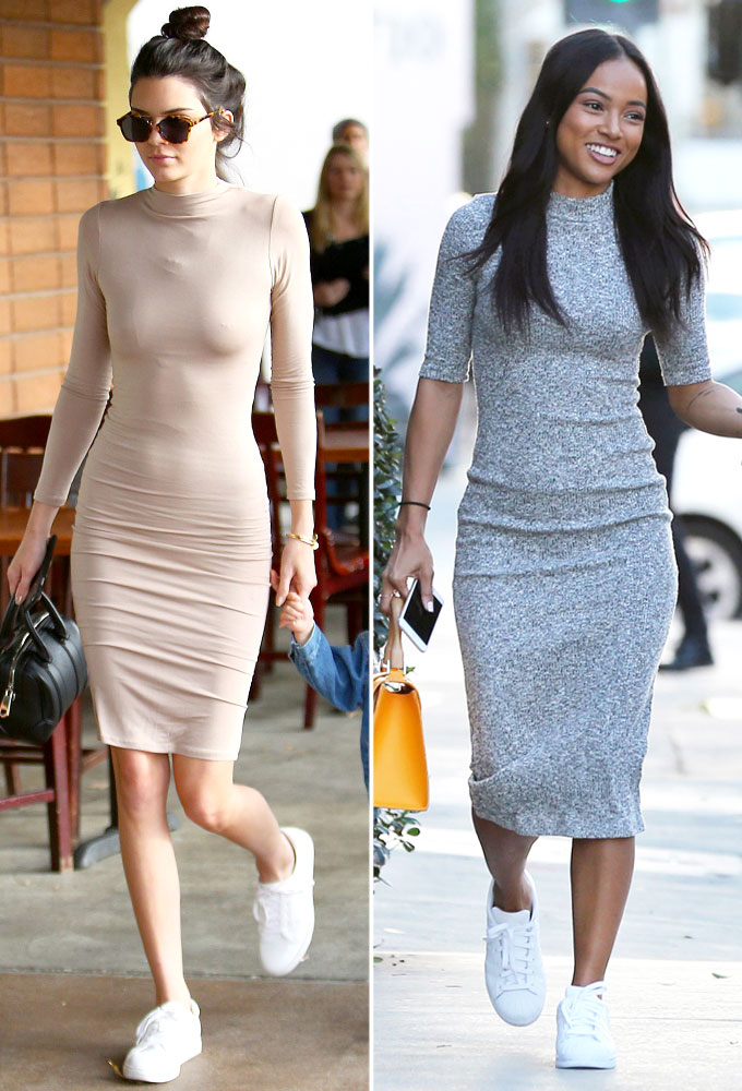 Kendall Jenner Olivia Munn More Celebs Wearing Dresses And Sneakers