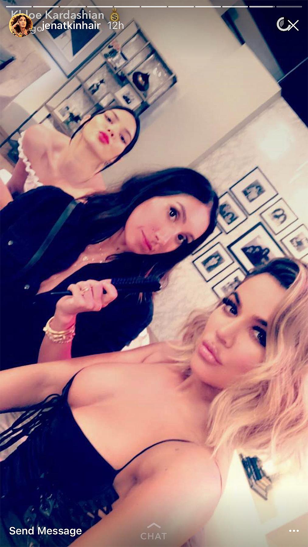 Kendall, Jen, and Khloe