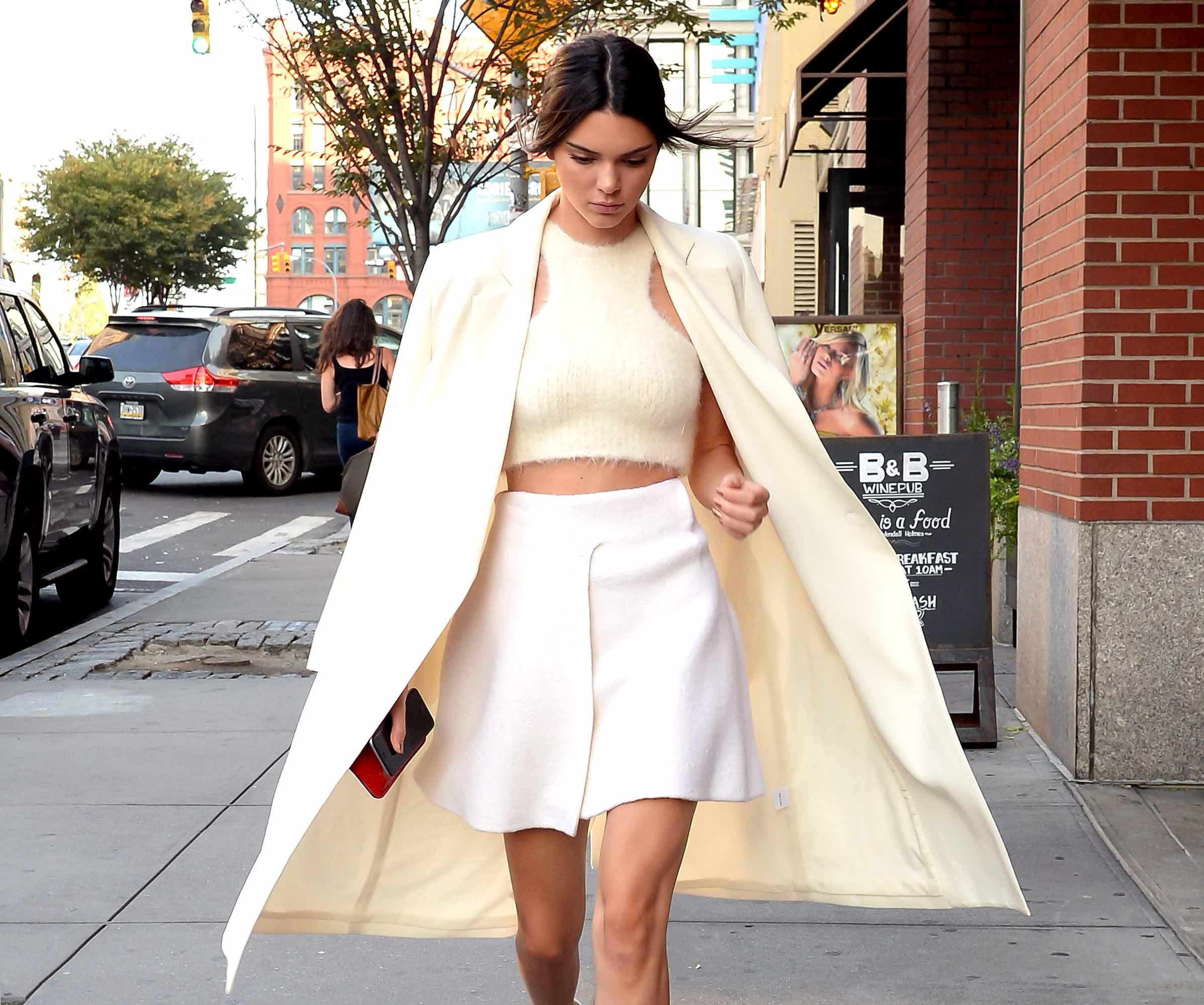 Kendall Jenner is seen walking in Soho on September 8, 2015 in New York City.