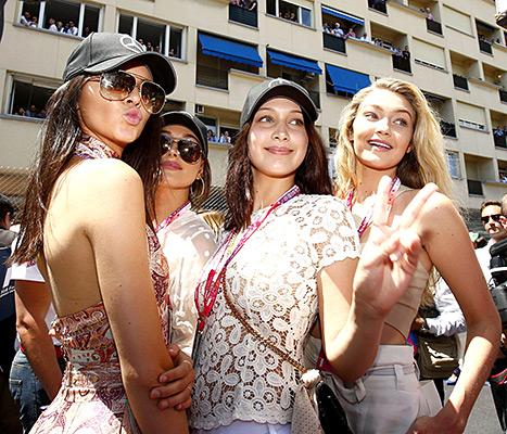 Kendall Jenner, Hailey Baldwin, Bella and Gigi Hadid