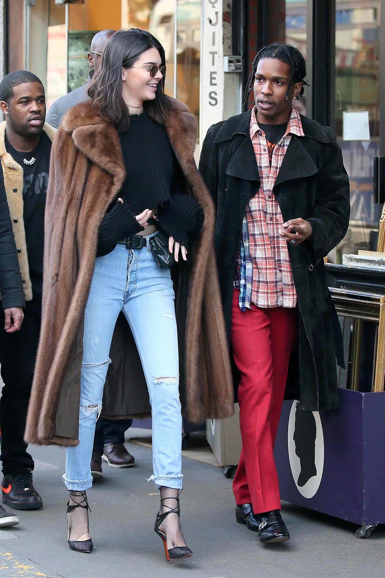 Kendall Jenner, A$AP Rocky Visit Paris Flea Market