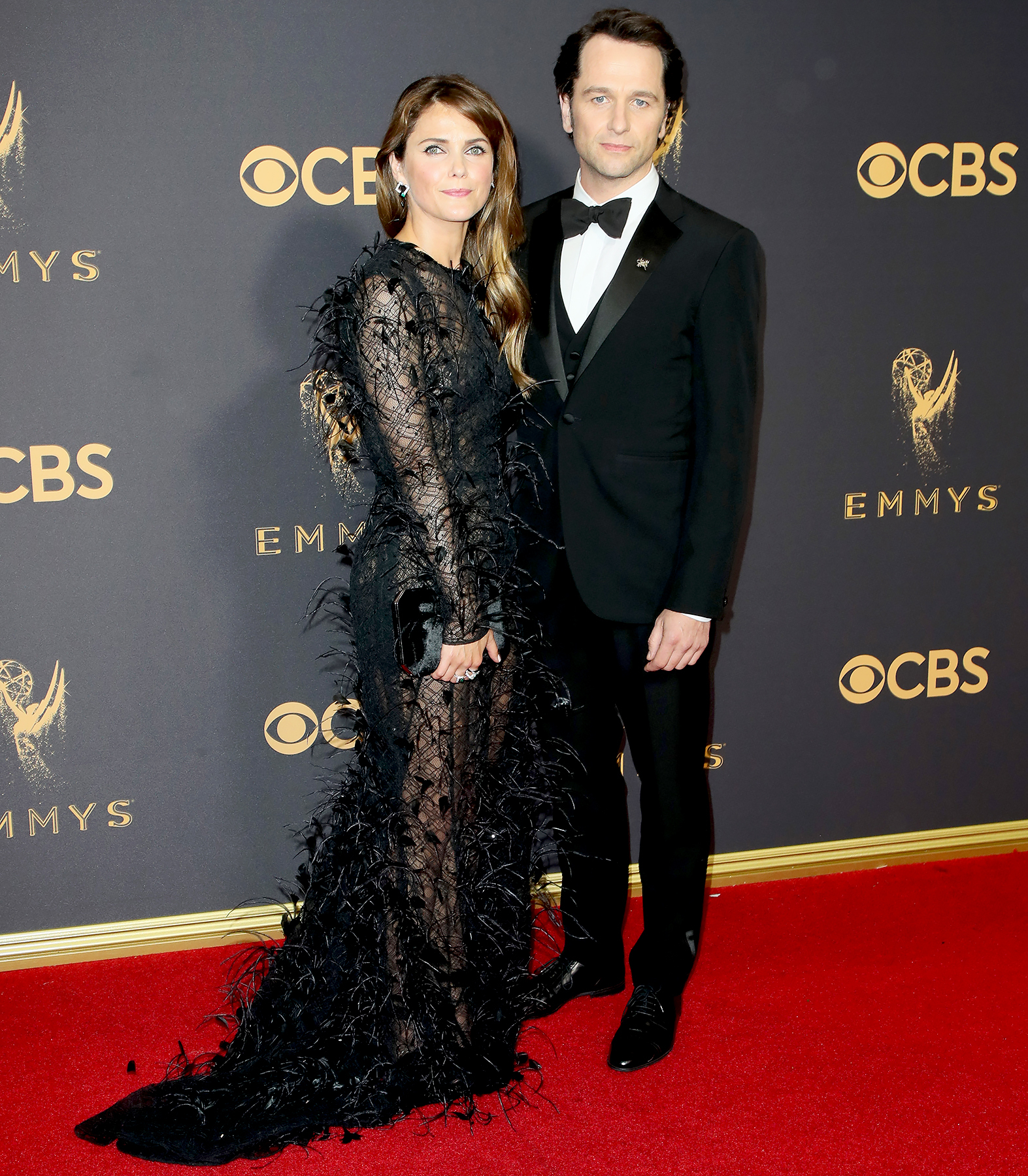 Keri Russell and Matthew Rhys attend the 69th Annual Primetime Emmy Awards - Arrivals at Microsoft Theater on September 17, 2017 in Los Angeles, California.