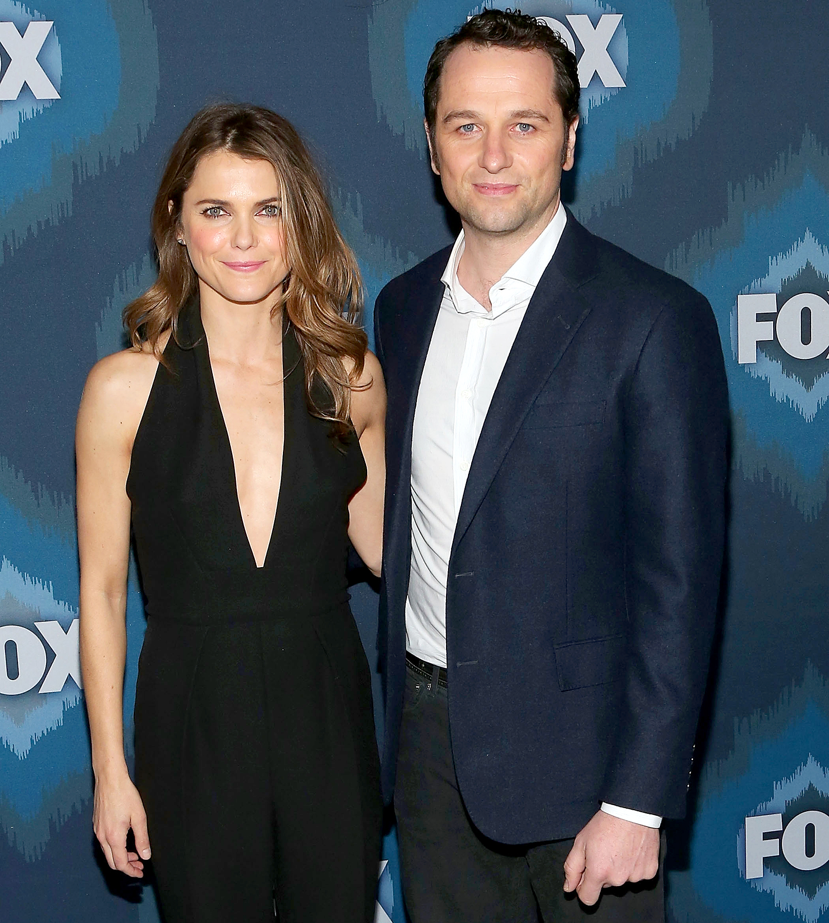 Keri Russell and Matthew Rhys attend the 2015 Fox All-Star Party.