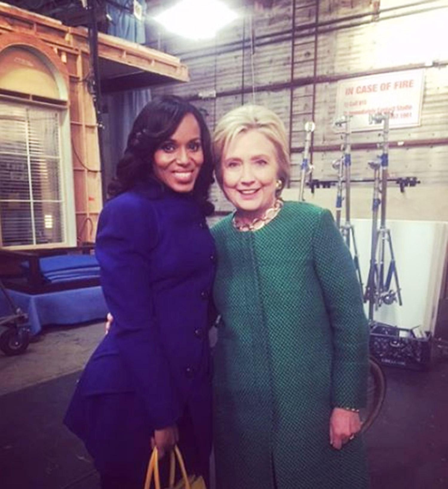 Kerry Washington and Hilary Clinton