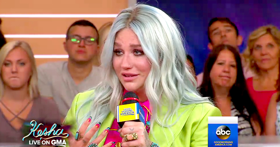 Kesha on Good Morning America.