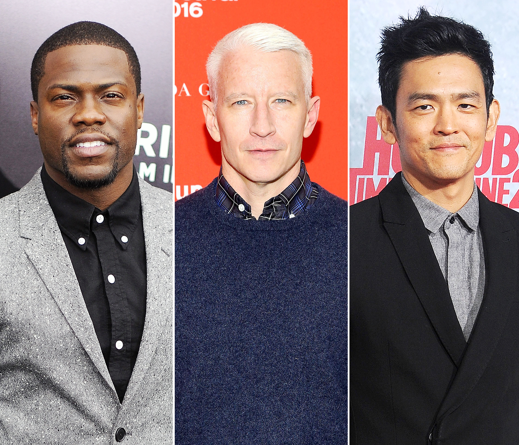 Kevin Hart, Anderson Cooper and John Cho