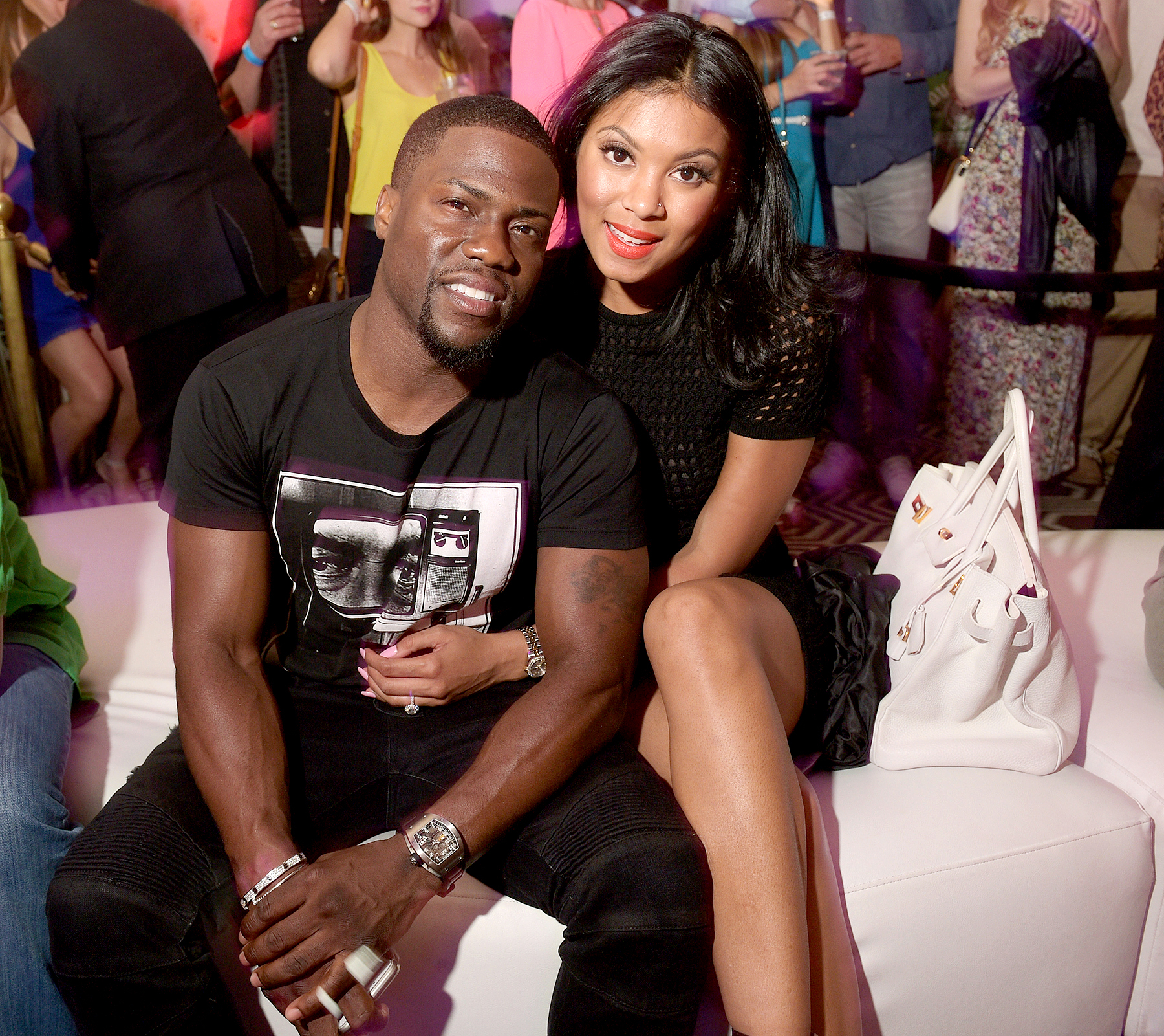 Kevin Hart and Eniko Parrish attend the 11th Annual Desert Smash Hosted By Will Ferrell Benefiting Cancer For College at La Quinta Resort and Club on March 10, 2015 in La Quinta, California.