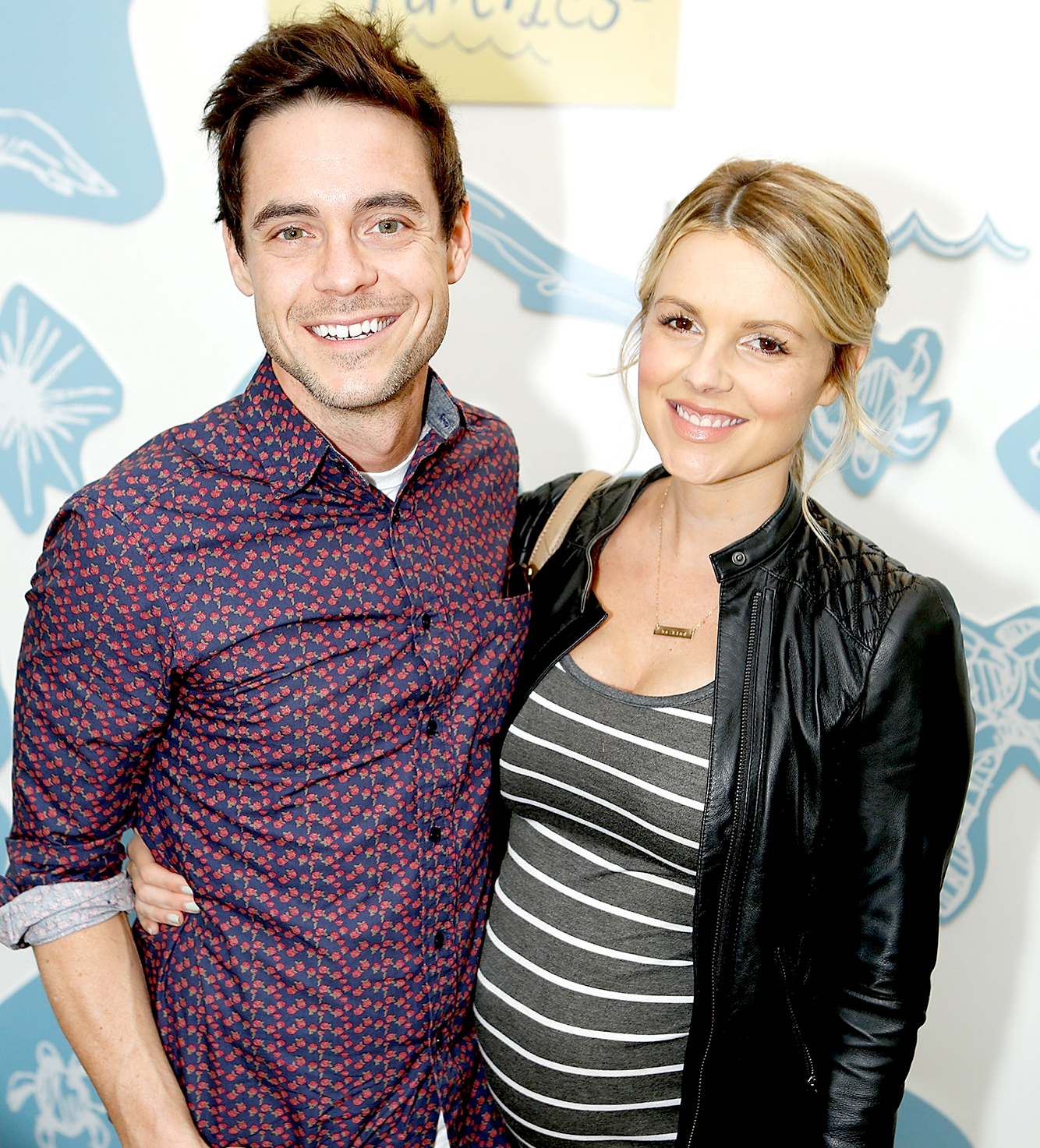 Kevin Manno and Ali Fedotowsky attend the partnership celebration between TOMS and Oceana to help save the sea turtles on March 24, 2016 at Au Fudge in West Hollywood, California.