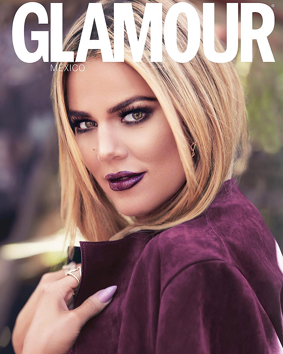 4aa47dd026 Khloe Kardashian Wears Sparkly Purple Lips for  Glamour Mexico