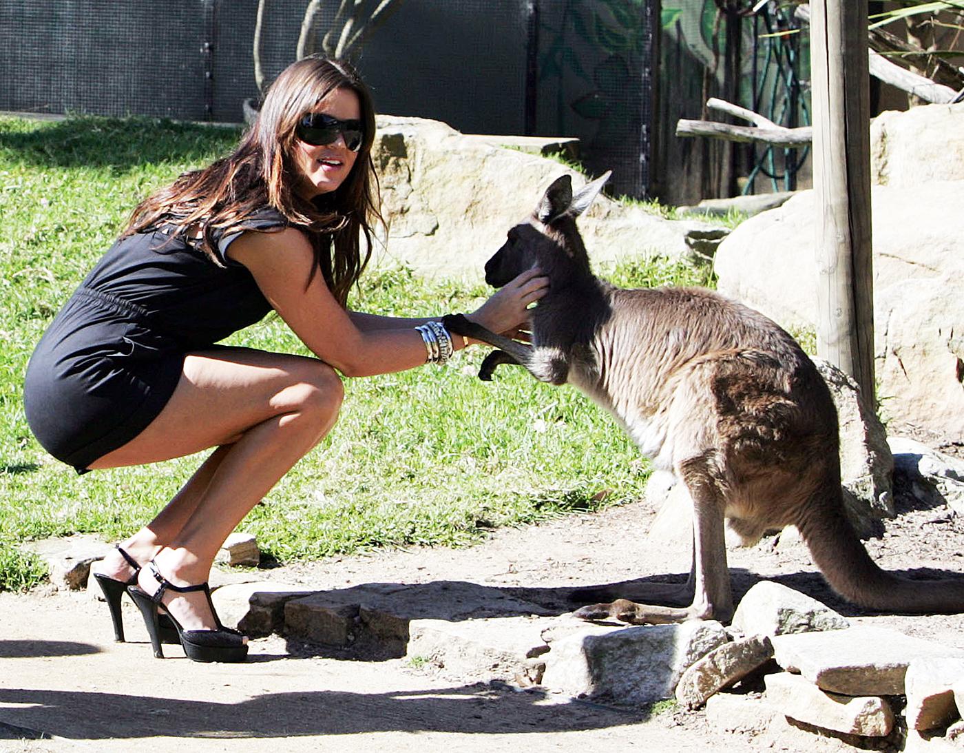 Khloe Kardashian and a kangaroo.