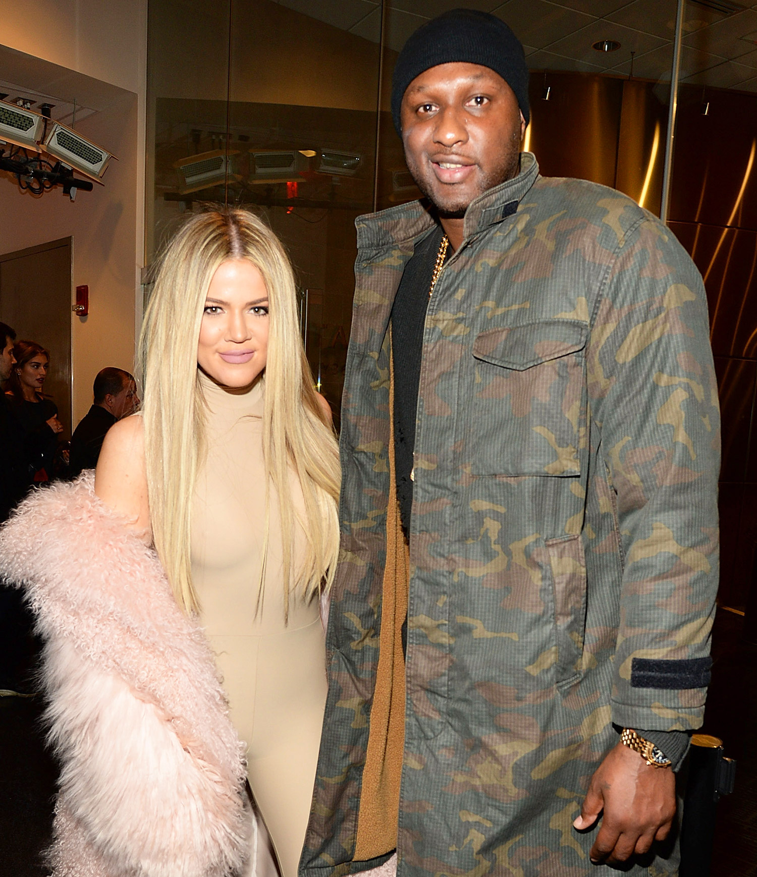 Khloe Kardashian and Lamar Odom attend Kanye West Yeezy Season 3 at Madison Square Garden on February 11, 2016.