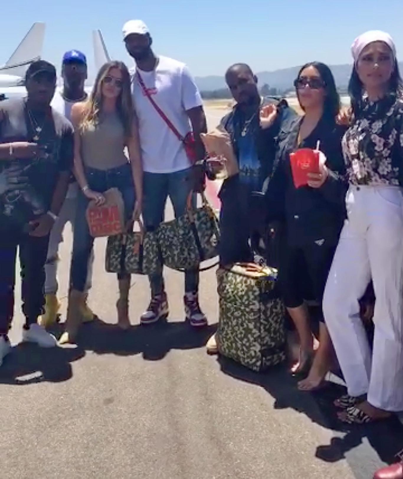 Khloe Kardashian, Tristan Thompson, Kanye West, Kim Kardashian and Rachel Roy