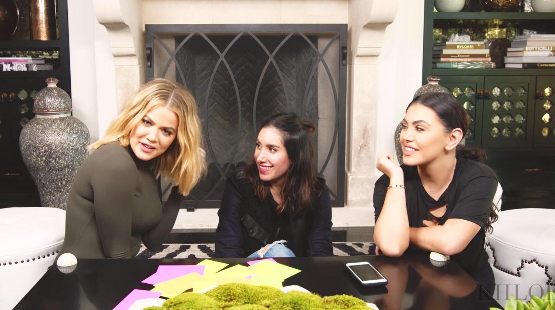 Khloé Kardashian, Jen Atkin and Hrush Achemyan