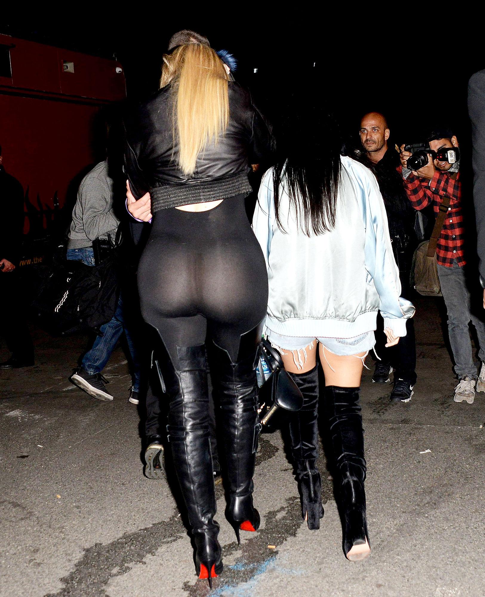 72de49c82b9 Khloe Kardashian Reveals All in Sheer Bodysuit