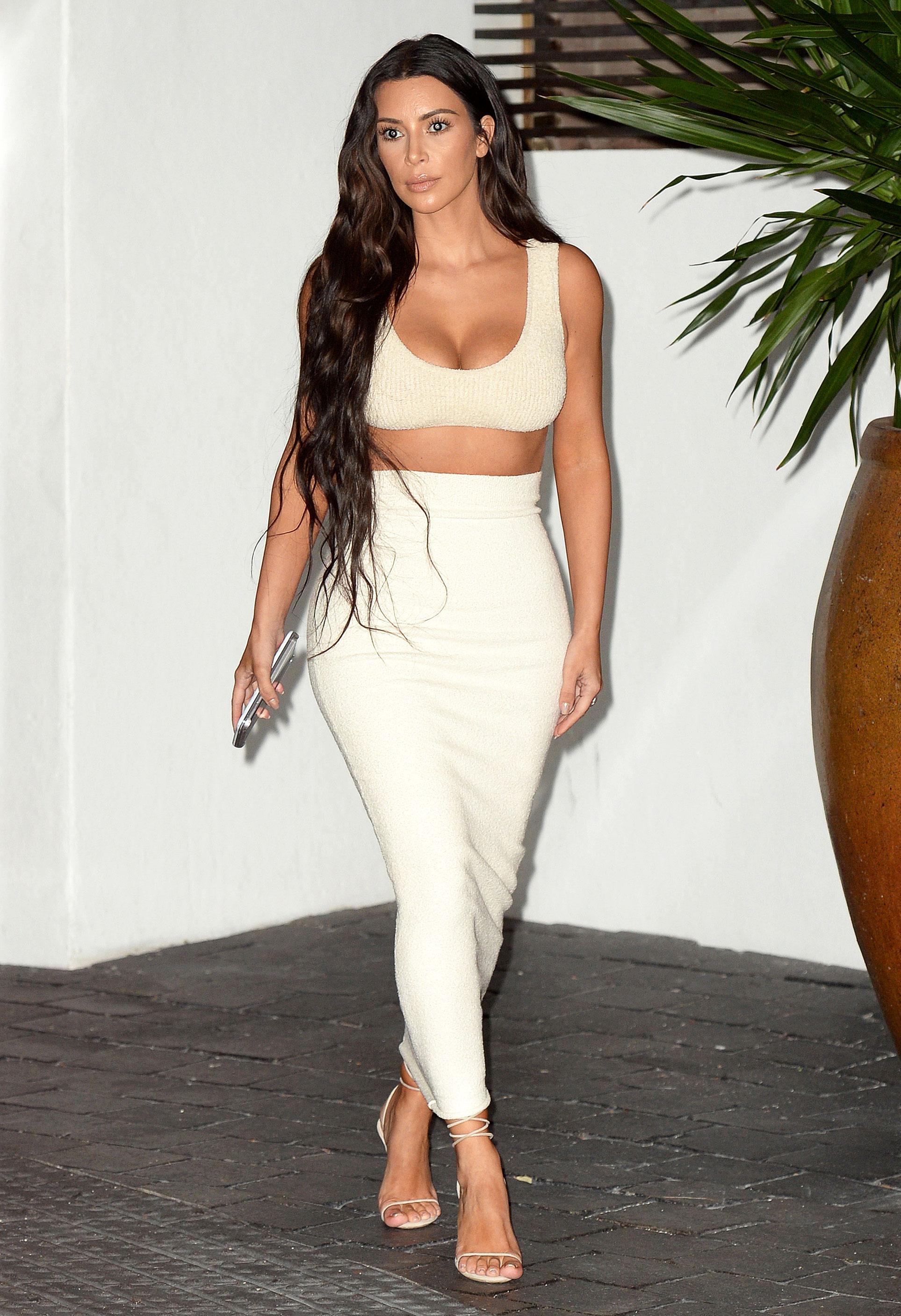 Kim Kardashian in Tight Dress - Leaving A Business Meeting