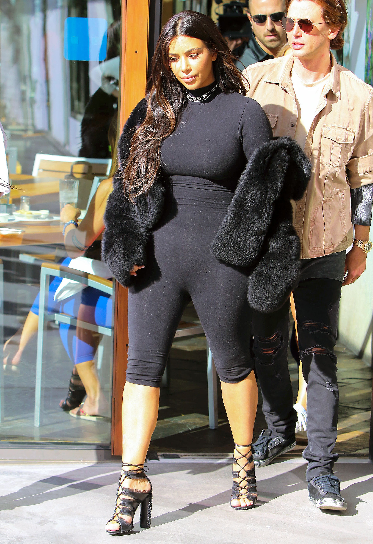 Kim Kardashian Loves To Wear Catsuits Postbaby Body Pics