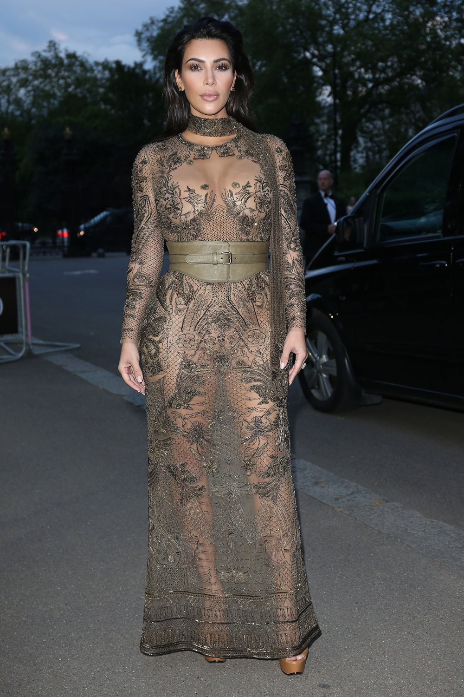 Kim Kardashian Dons Her Most Naked Naked Dress Yet At
