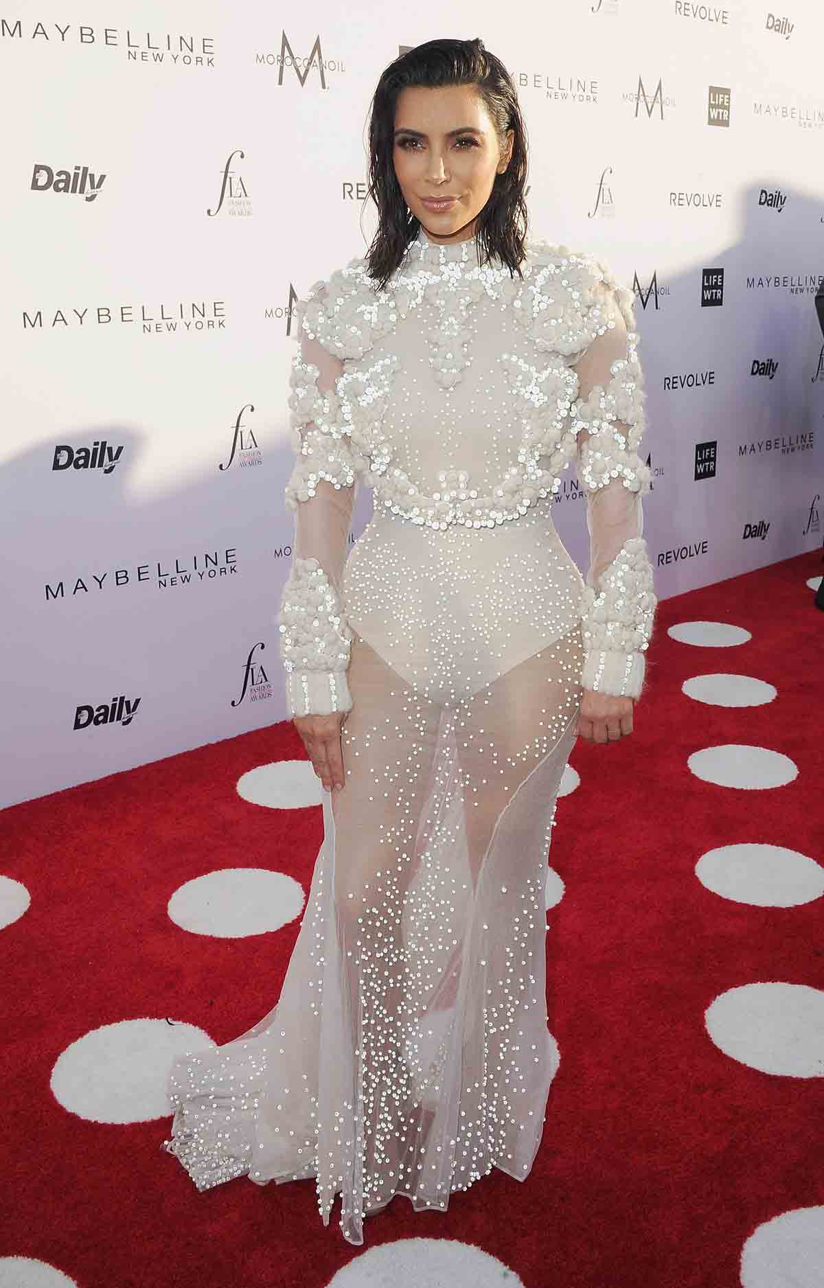 Kim Kardashian at the Daily Front Row's 3rd Annual Fashion Los Angeles Awards on Sunday, April 2