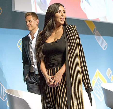Kim Kardashian - Cannes Lions (side onstage)
