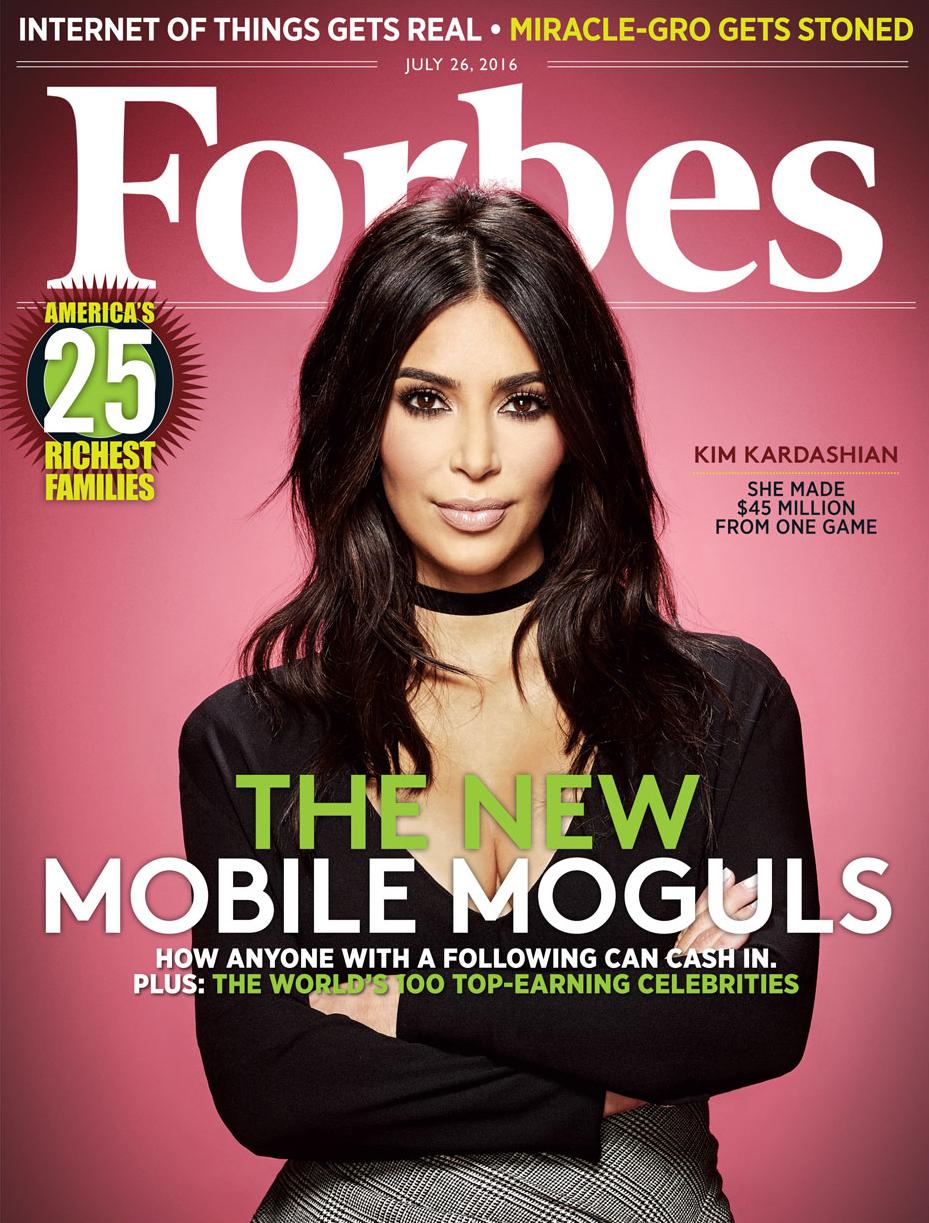 Kim Kardashian Covers 'Forbes' as 'Mobile Mogul,' Game Earns $160M