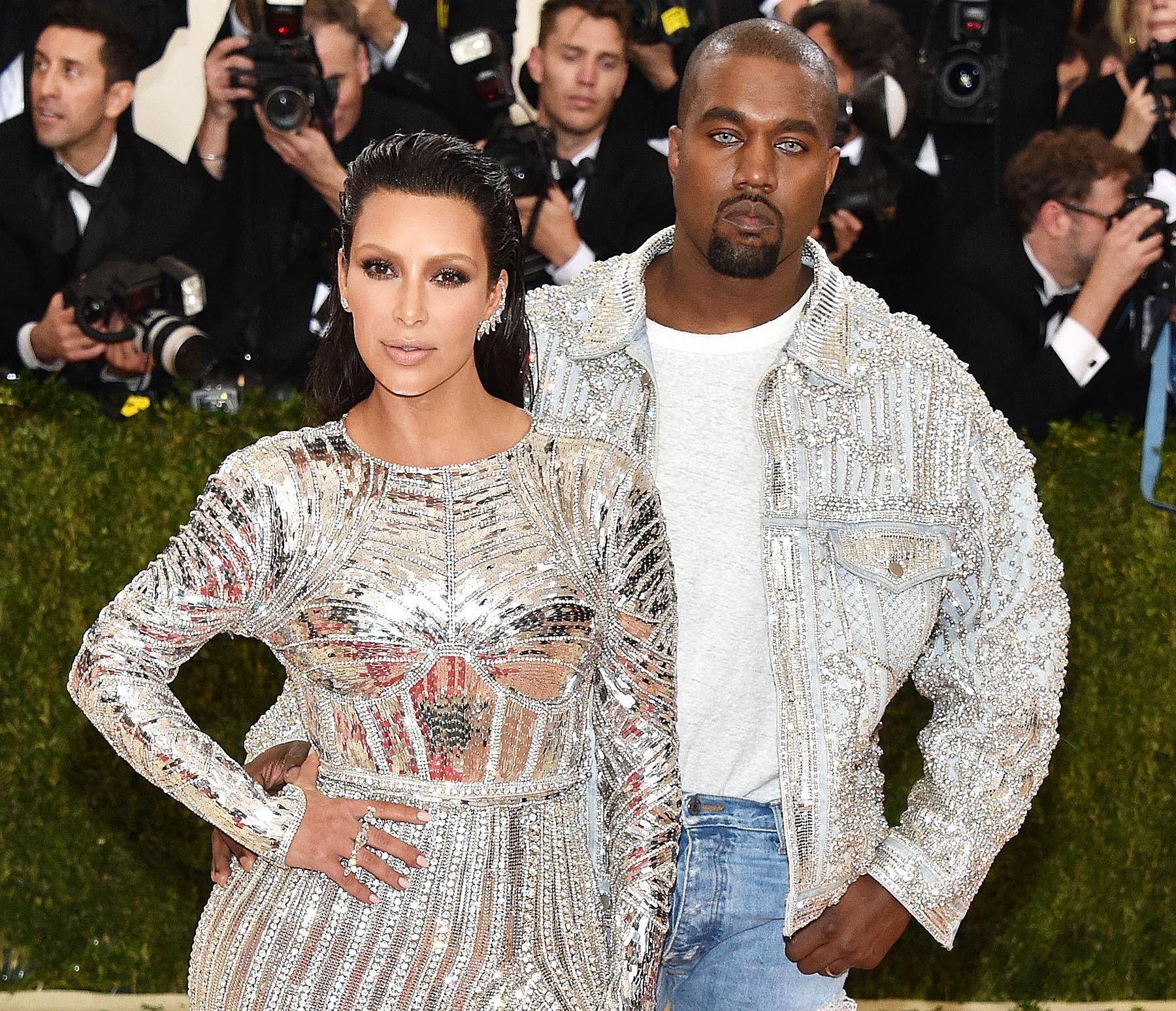 Kim Kardashian Kanye West 2016 Met Gala