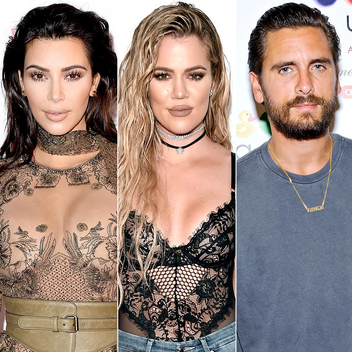 Kim Kardashian, Khloe Kardashian, and Scott Disick