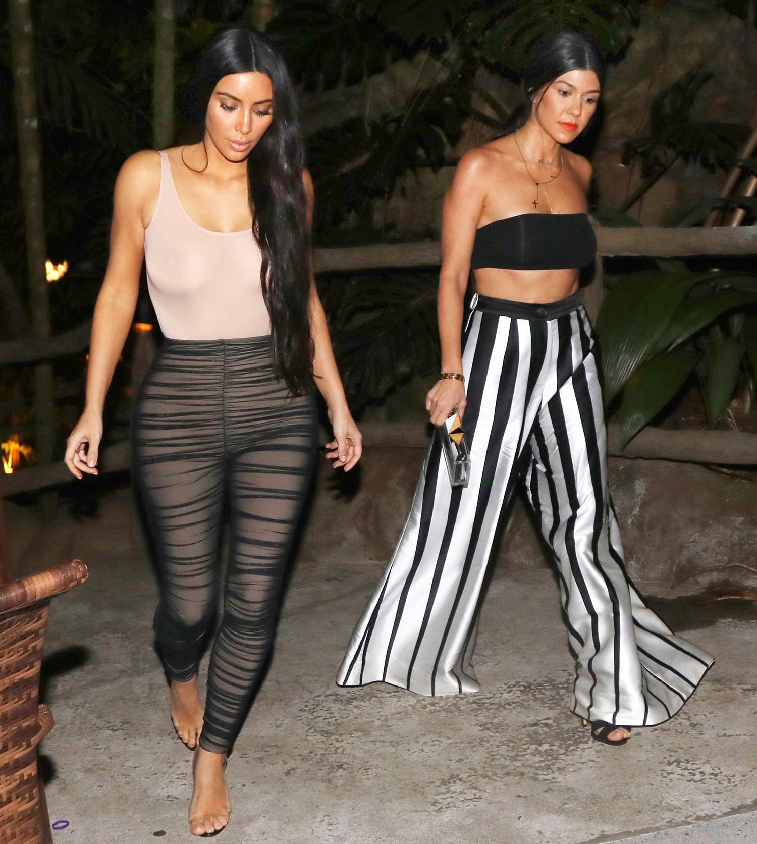 Kim Kardashian and Kourtney Kardashian