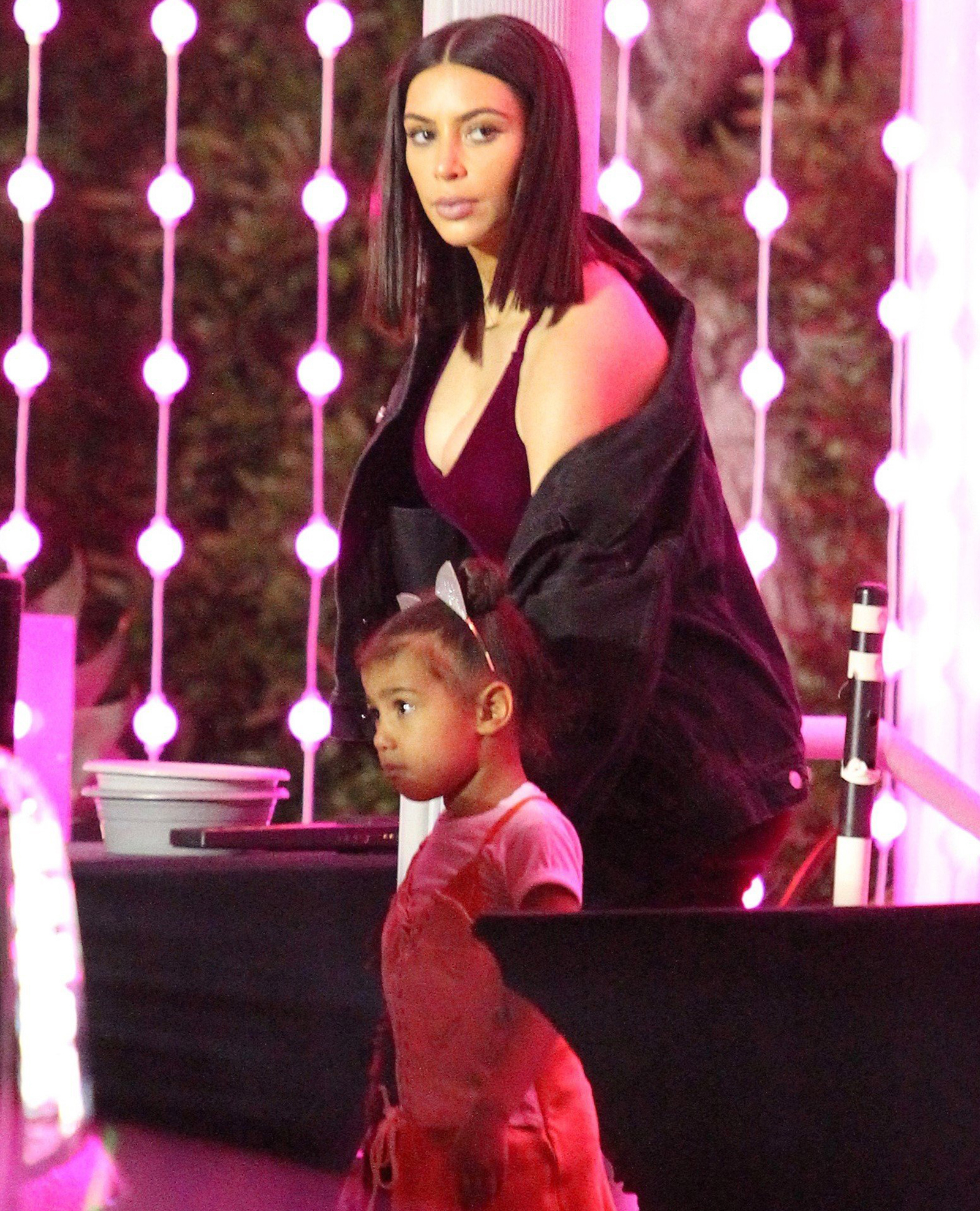 Kim Kardashian Daughter North Meet Ariana Grande Backstage
