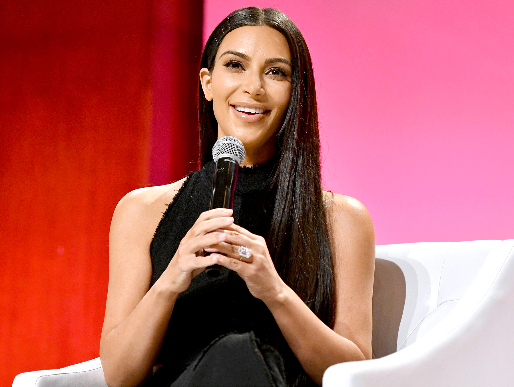 Kim Kardashian West Speaks At The S Lounge Dinner Giving Visibility To Women