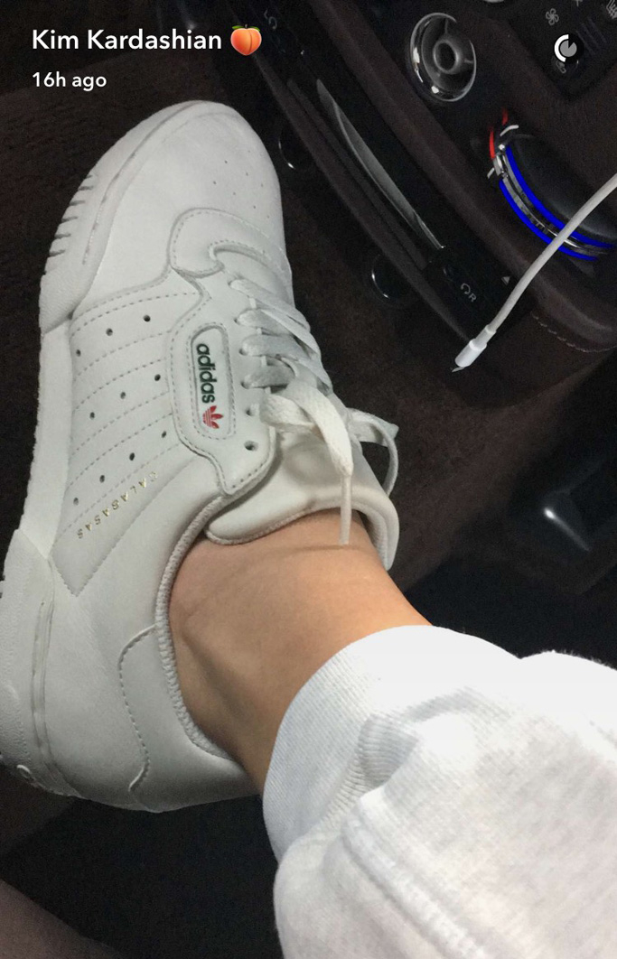 """113d10cf4cf9d ... the Calabasas x Adidas """"Powerphase"""" sneaker. While the mom of North"""