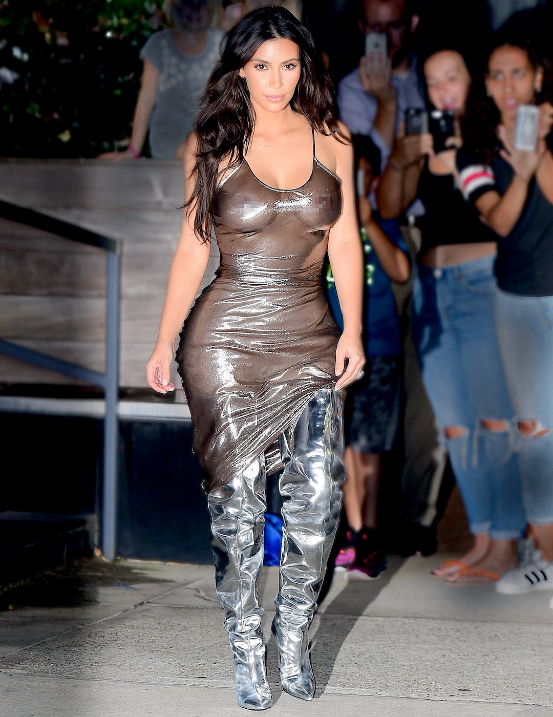 Kim Kardashian was spotted leaving her NYC AirBnB in September.