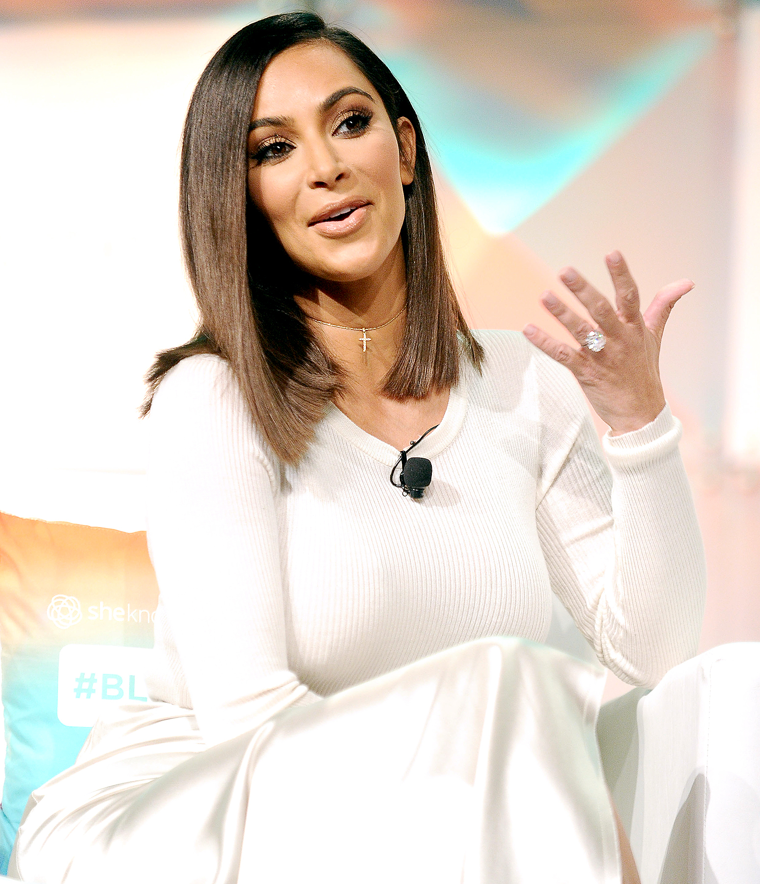 Kim Kardashian attends the #BlogHer16 Experts Among Us conference at JW Marriott Los Angeles at L.A. LIVE on August 5, 2016 in Los Angeles, California.