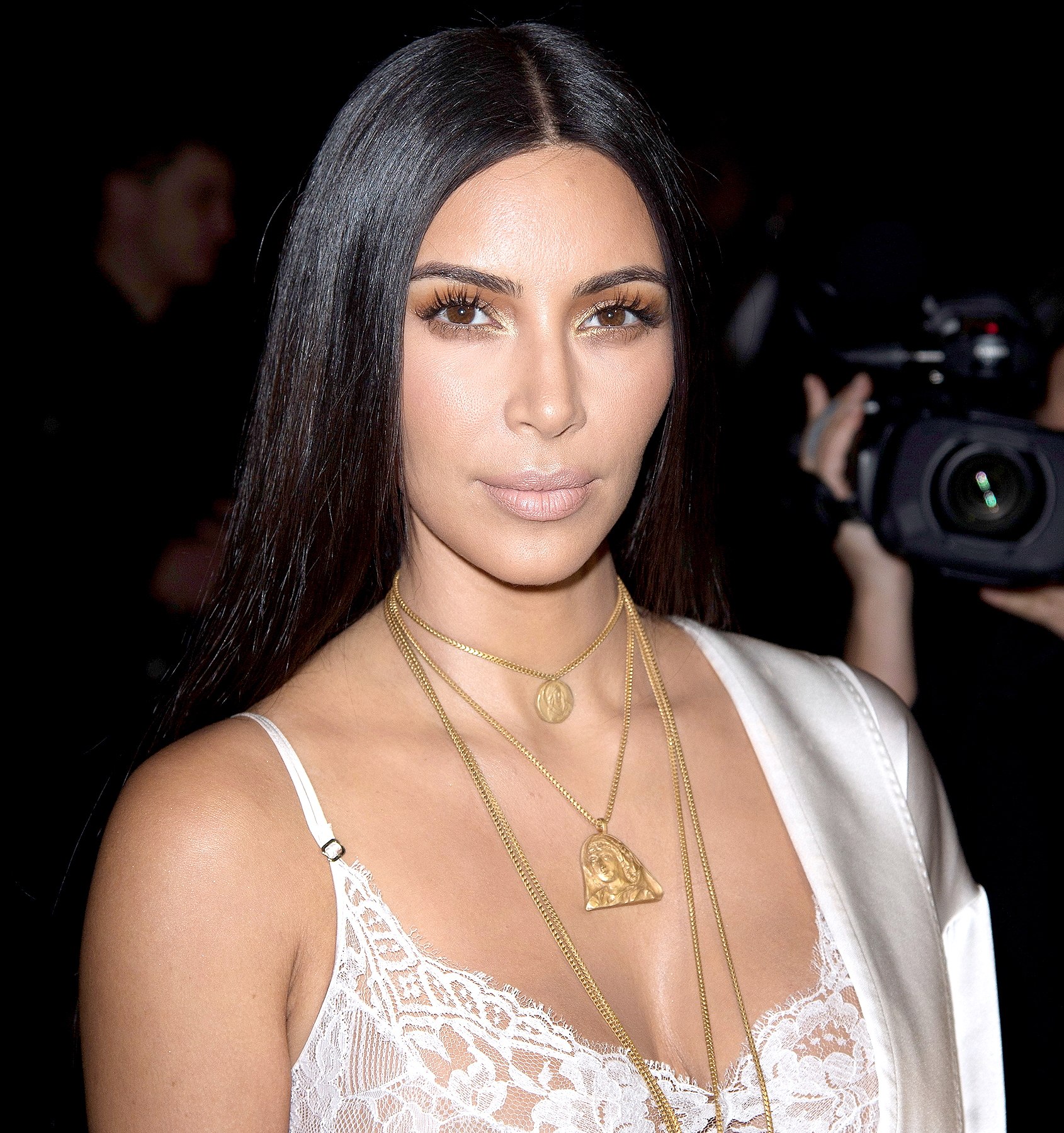 Kim Kardashian attends the Givenchy show as part of the Paris Fashion Week Womenswear Spring/Summer 2017 on October 2, 2016 in Paris, France.