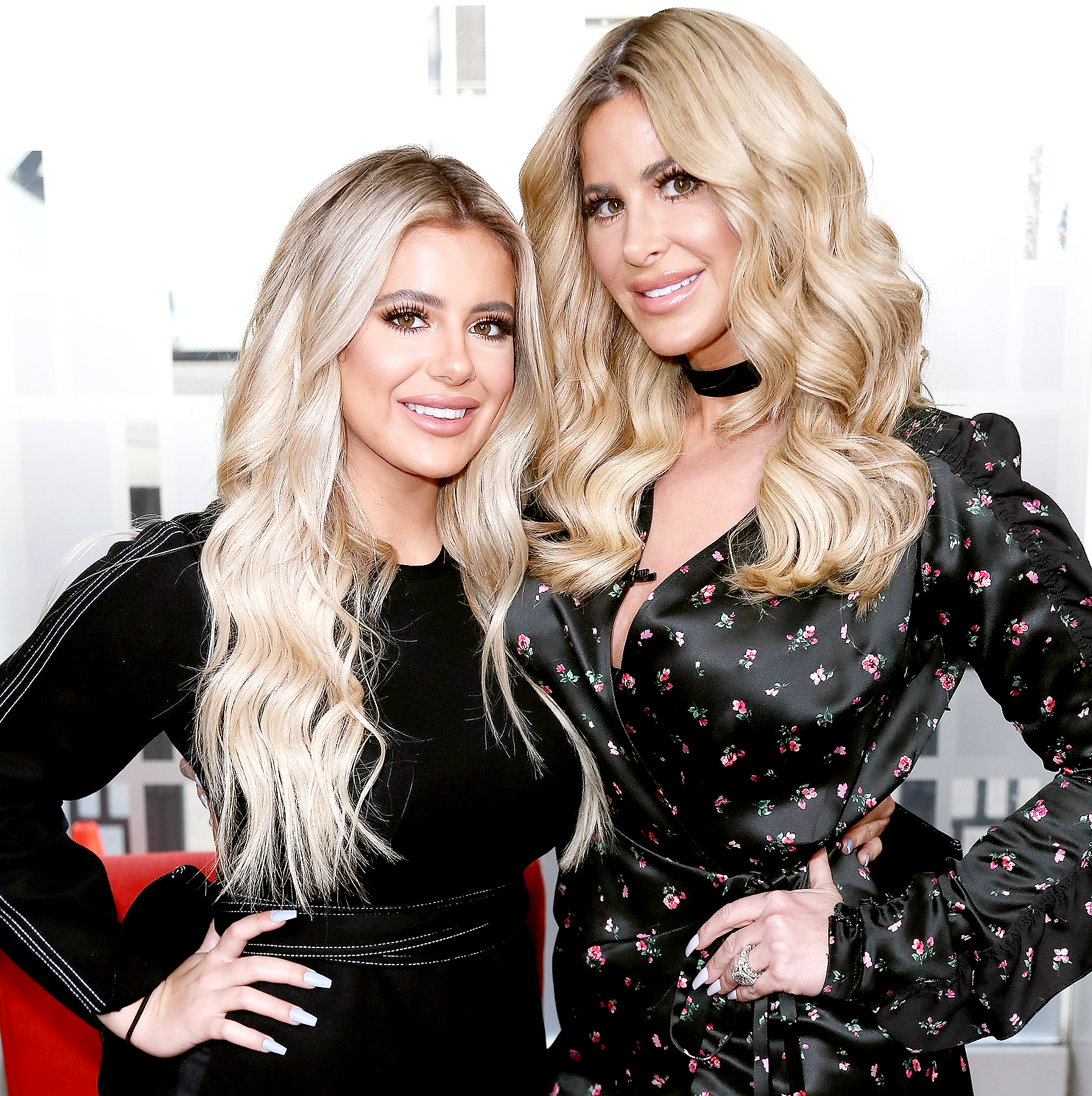 Kim Zolciak (R) and daughter Brielle Biermann visit Hollywood Today Live at W Hollywood on October 13, 2016 in Hollywood, California.