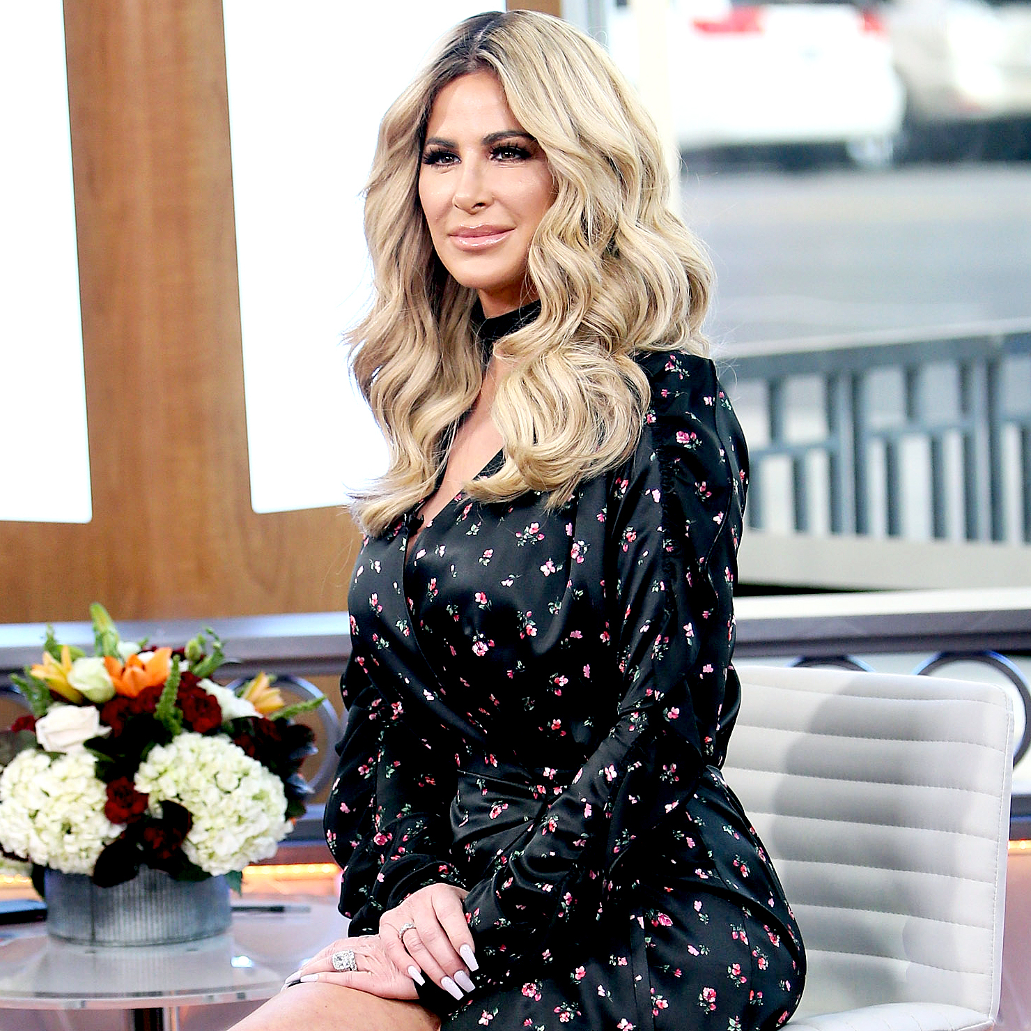 Kim Zolciak visits 'Hollywood Today Live' at W Hollywood on Oct. 13, 2016, in Hollywood.