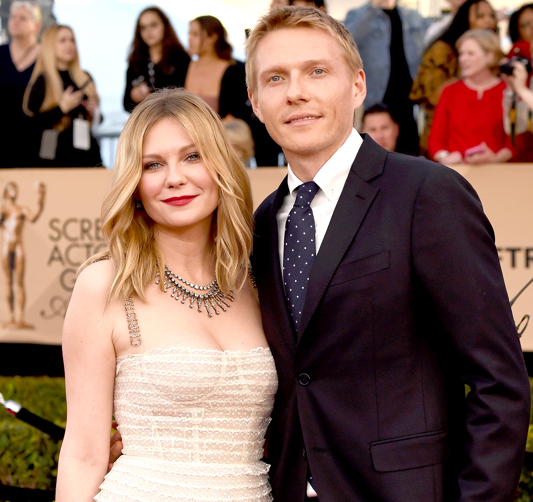 Kirsten Dunst and Christian Dunst attend the 23rd Annual Screen Actors Guild Awards.