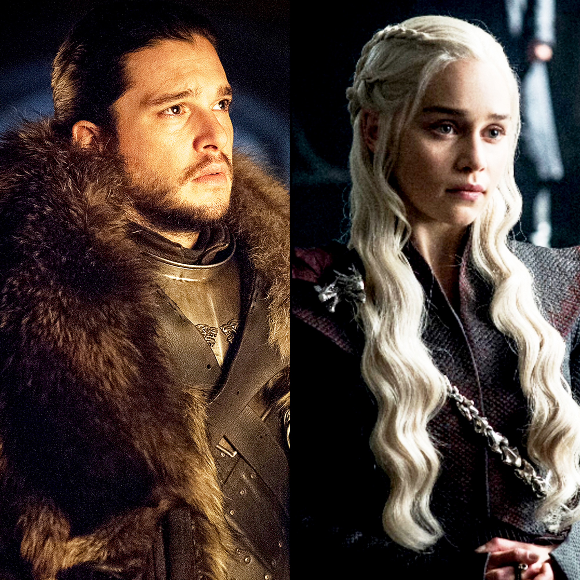 Kit Harington and Emilia Clarke Game of Thrones