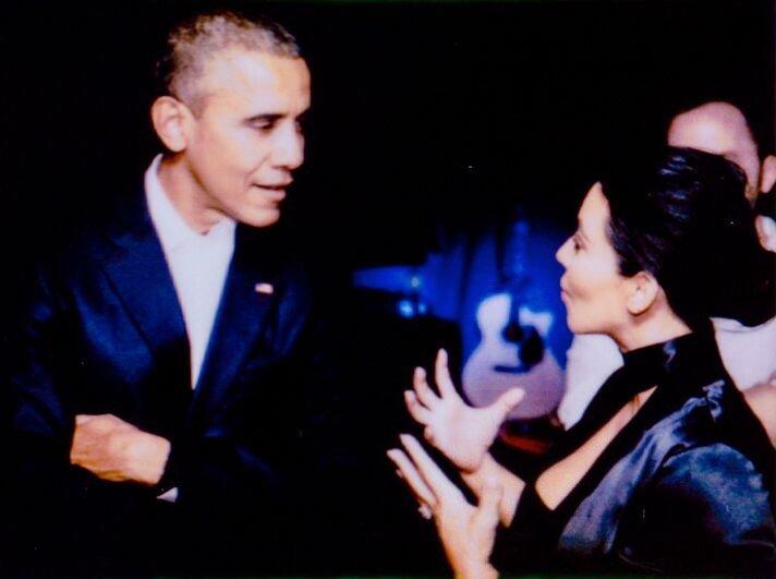 Barack Obama and Kim Kardashian