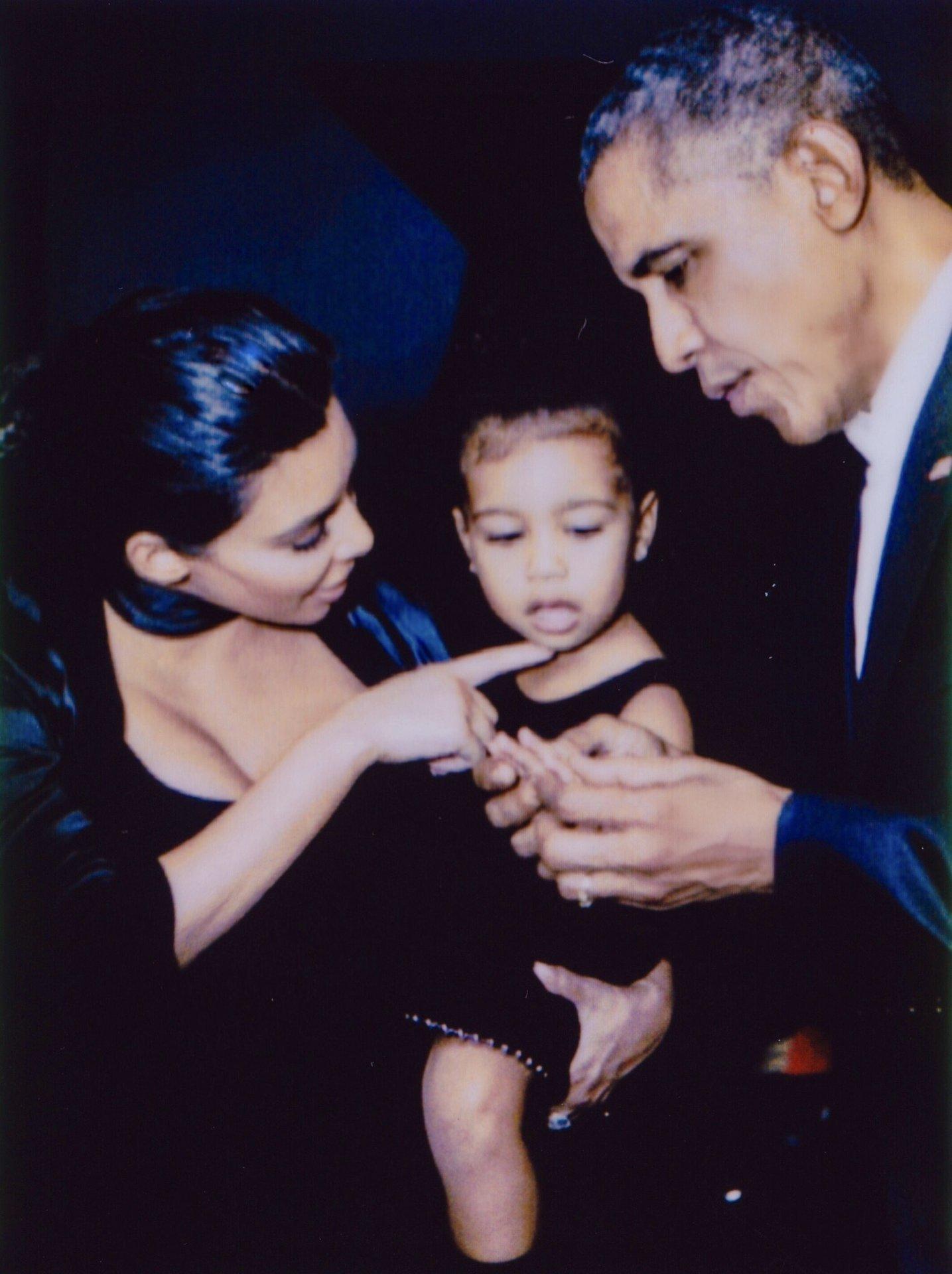Kim Kardashian, North West and Barack Obama