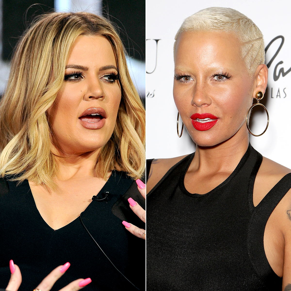 Khloé Kardashian and Amber Rose
